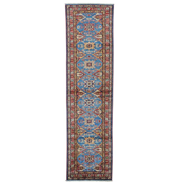 One-of-a-Kind Tillett Super Hand-Knotted Sky Blue Area Rug by Millwood Pines