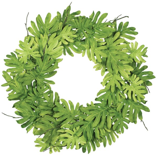 Philodendron 26 Polyester Wreath by Millwood Pines
