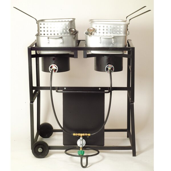 King Kooker 30 Dual Outdoor Propane Frying Cart by King Kooker