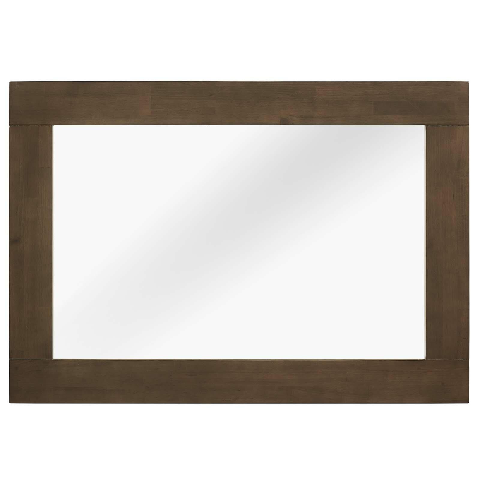 Burson Wood Mid Century Modern Accent Mirror