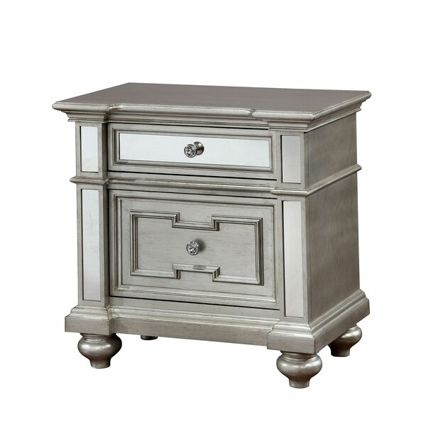 Amberly 2 Drawer Nightstand by House of Hampton