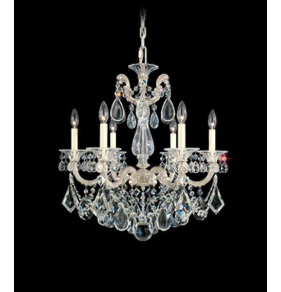 La Scala 6 - Light Candle Style Classic / Traditional Chandelier by Schonbek Schonbek