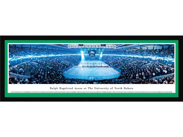 NCAA North Dakota, University of - Hockey Anthem by Christopher Gjevre Framed Photographic Print by Blakeway Worldwide Panoramas, Inc