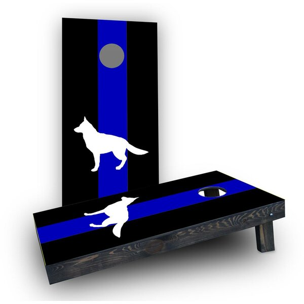 Blue Line K9 Cornhole Boards (Set of 2) by Custom Cornhole Boards