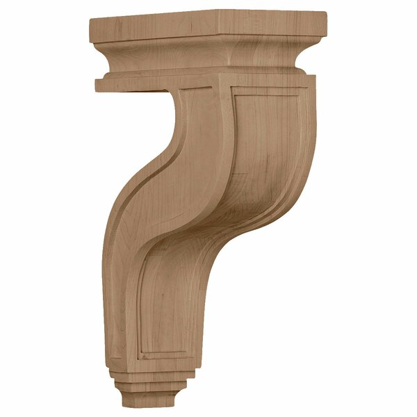 Hampshire 13H x 4W x 8 1/2D Hollow Back Corbel in Hard Maple by Ekena Millwork