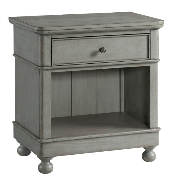 Lesli 1 Drawer Nightstand by Bungalow Rose
