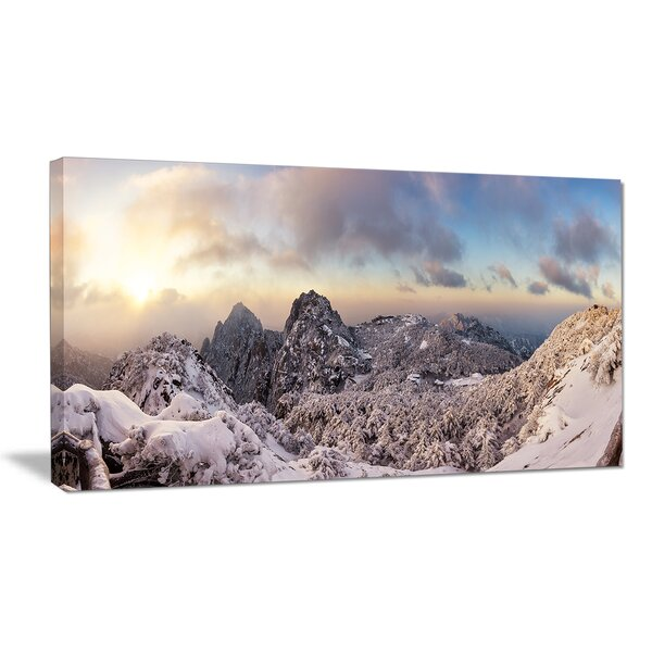Huangshan Hill Snow in Winter Photographic Print on Wrapped Canvas by Design Art
