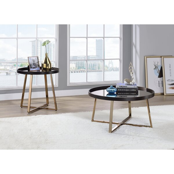 Yulia 2 Piece Coffee Table Set by Everly Quinn Everly Quinn