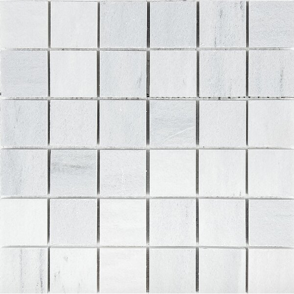 Naples Marble 2 x 2 Stone Mosaic Tile in White Honed by Parvatile