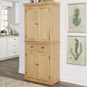 Rabin Maple Kitchen Pantry by Beachcrest Home