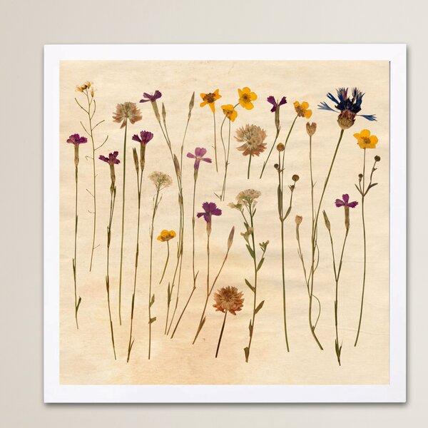 Vintage Flowers Framed Painting Print by Lark Manor