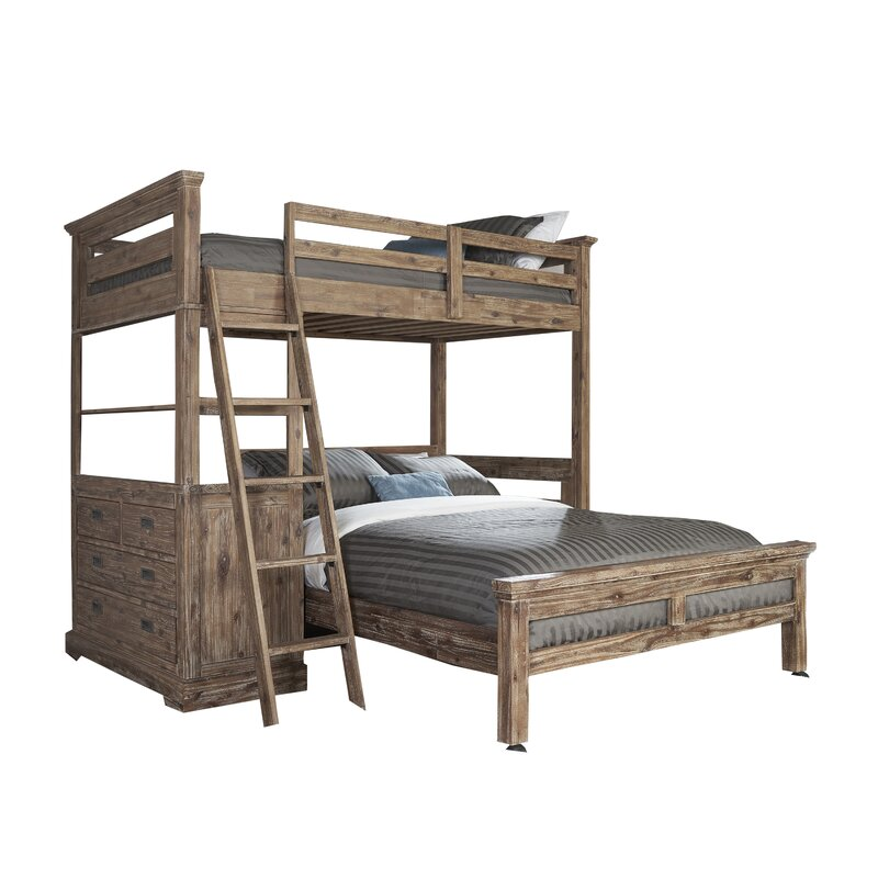 Bryon Twin Over Full L Shaped Bunk Bed With 4 Drawer Chest And Lower