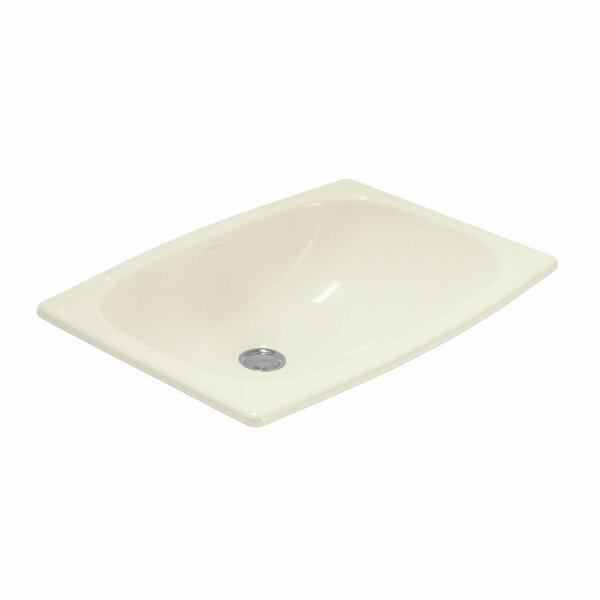 Stinson Ceramic Rectangular Drop-In Bathroom Sink with Overflow