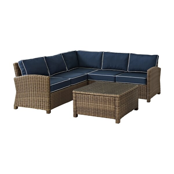 Lawson 4 Piece Sectional Set with Cushions by Birch Lane™ Heritage