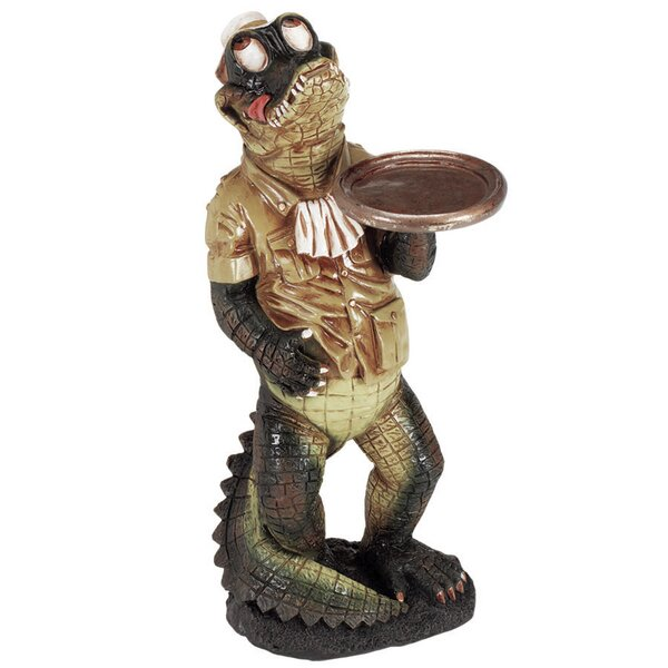 Jayden Gator Waiter Character Outdoor Table by Bay Isle Home