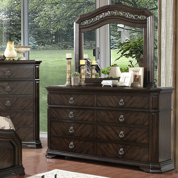 Fye 8 Drawer Double Dresser with Mirror by Astoria Grand