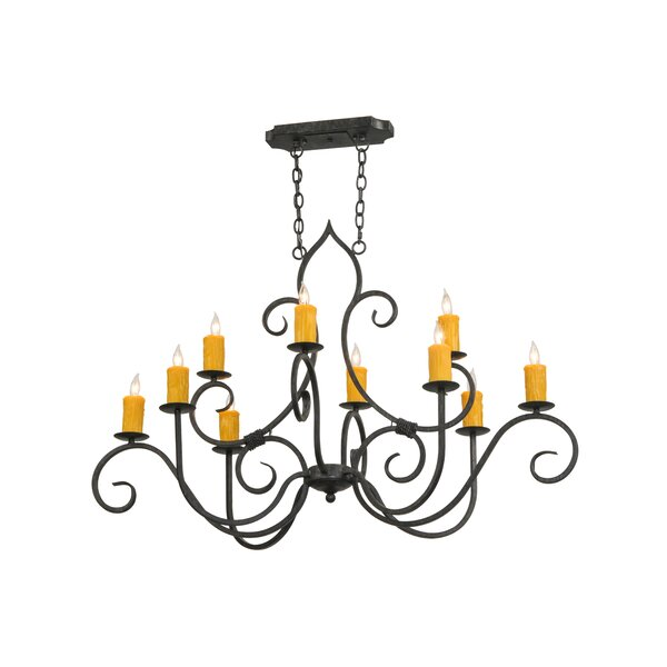 Carwell 10 - Light Candle Style Classic/Traditional Chandelier by Fleur De Lis Living Fleur De Lis Living