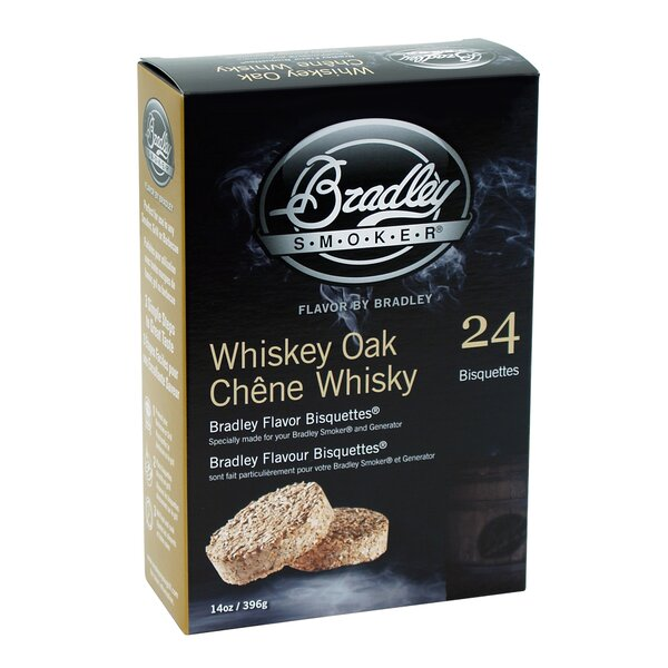 Whiskey Oak Flavor Bisquettes (Set of 24) by Bradley Smoker
