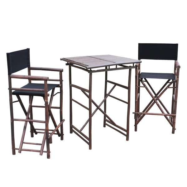 Kapur 3 Piece Bar Height Dining Set by Bloomsbury Market