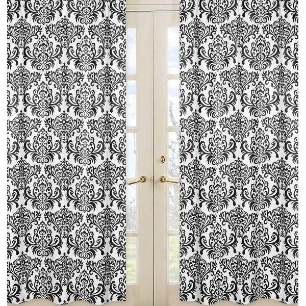 Sloane Damask Semi-Sheer Rod pocket Curtain Panels (Set of 2) by Sweet Jojo Designs