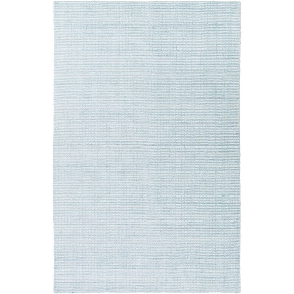 Chesterbrook Hand-Loomed Aqua Area Rug by Highland Dunes