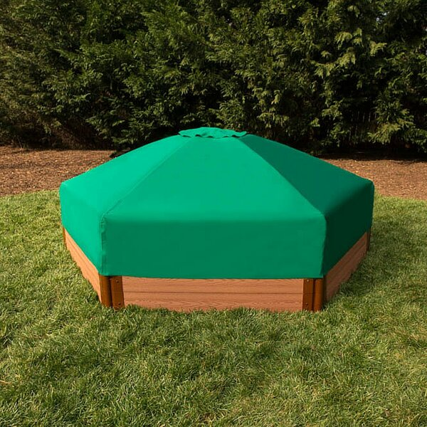 One Inch Series 7 ft. Hexagonal Sandbox with Cover by Frame It All