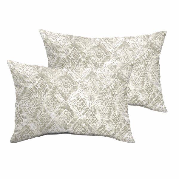 Caterina Indoor/Outdoor Lumbar Pillow (Set of 2) by World Menagerie