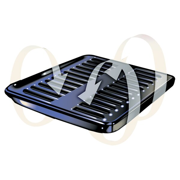2 Piece Heavy Duty Porcelain Full Size Convection Broiler Pan Set by Range Kleen| @ $28.99