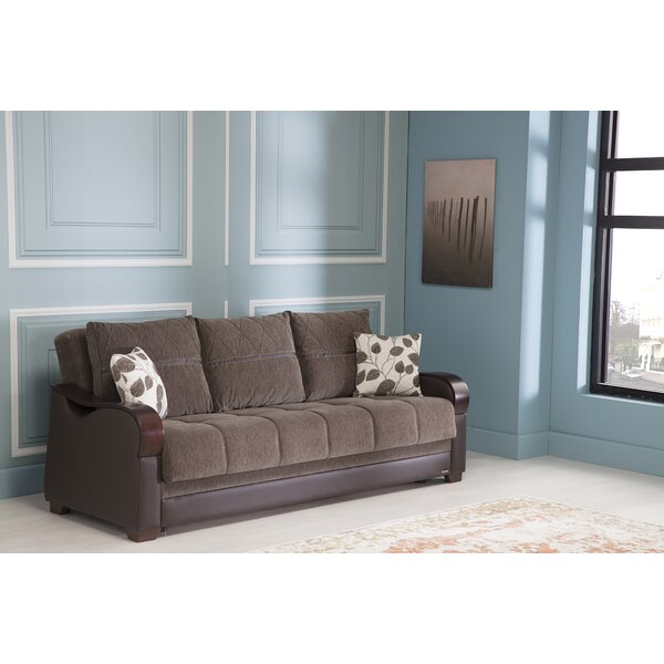 Florio Genuine Leather Sofa by Ebern Designs