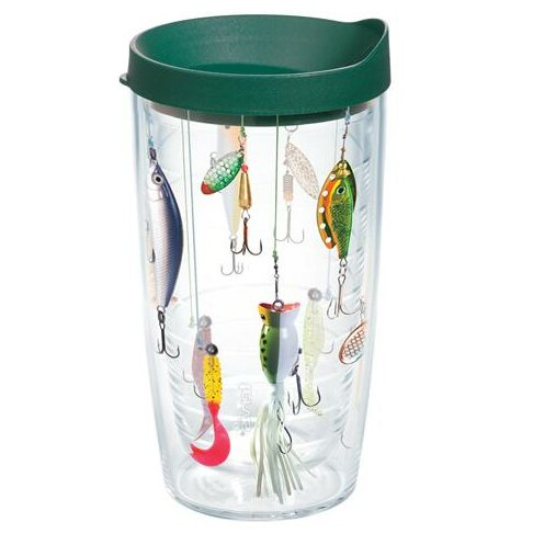Great Outdoors Fishing Lures Plastic Travel Tumbler by Tervis Tumbler