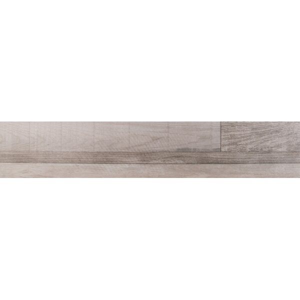 Sierra 9 x 48 Porcelain Wood Look/Field Tile in Gray by MSI