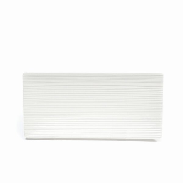White Basics Cirque Rectangular Platter (Set of 6) by Maxwell & Williams