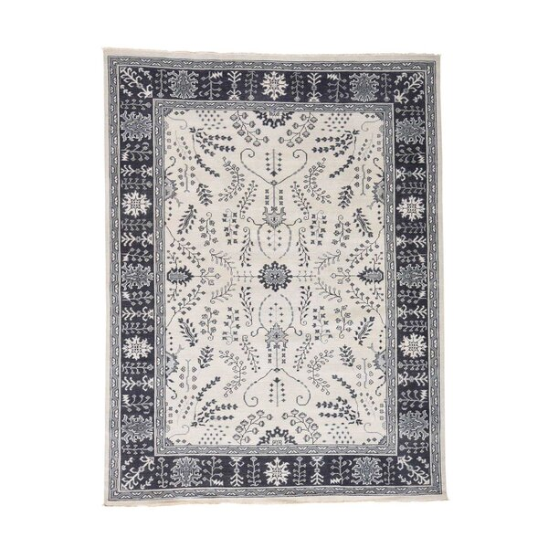 One-of-a-Kind Oceane Knot Oushak Oriental Hand-Knotted Area Rug by One Allium Way