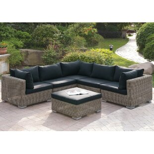 6 Piece Sectional Set with Cushions by JB Patio