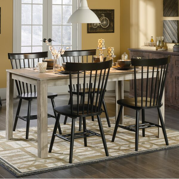 Brixton 5 Piece Solid Wood Dining Set by Highland Dunes