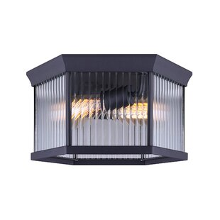 Best Price Rickards 2-Light Outdoor Flush Mount By Charlton Home