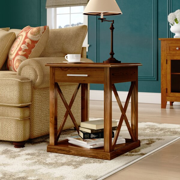 Stronghurst End Table With Storage by Andover Mills