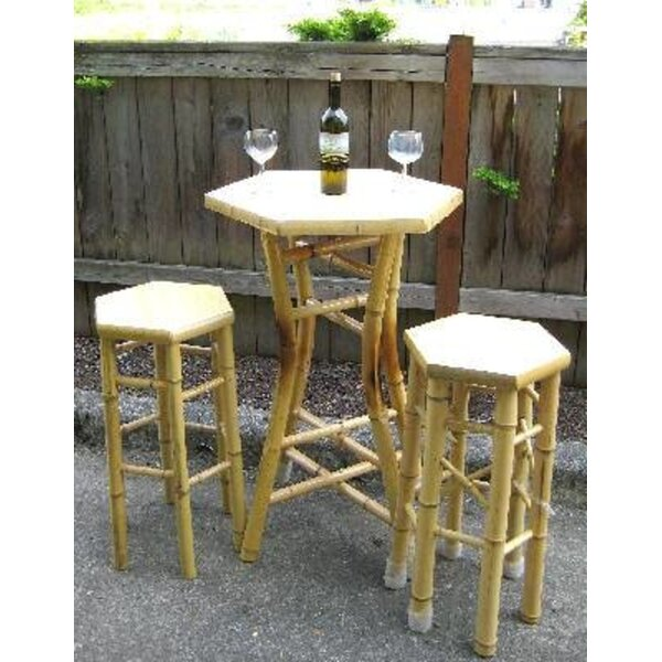 Abordale Wooden Bistro Table by Bay Isle Home