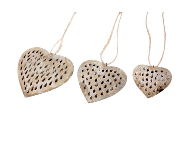 Galvanized Performance Heart with Rope Decorative Set (Set of 2) by BIDKhome