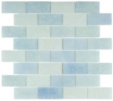Lakeview 14 x 16 Glass Mosaic Tile in Antigua by Kellani