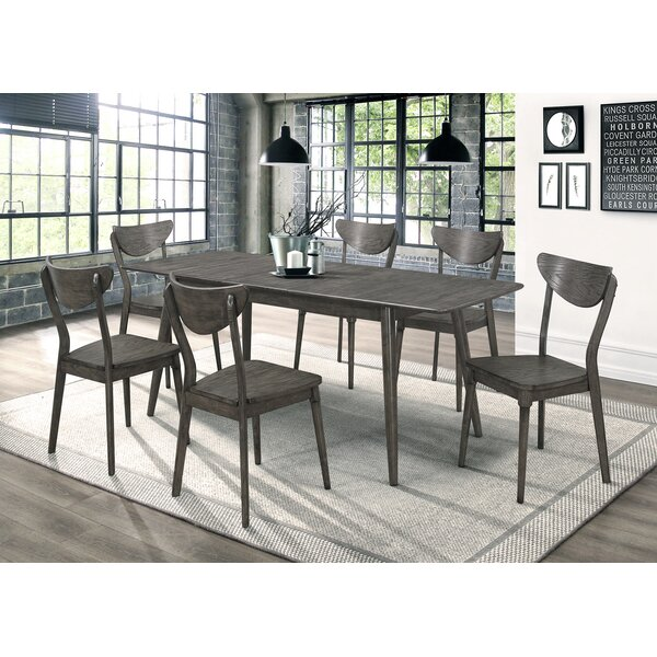 Rogan Dining Table With Butterfly Leaf Dark Grey by Gracie Oaks Gracie Oaks