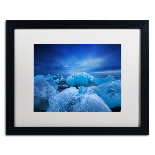 Think Blue by Philippe Sainte-Laudy Framed Photographic Print by Trademark Fine Art