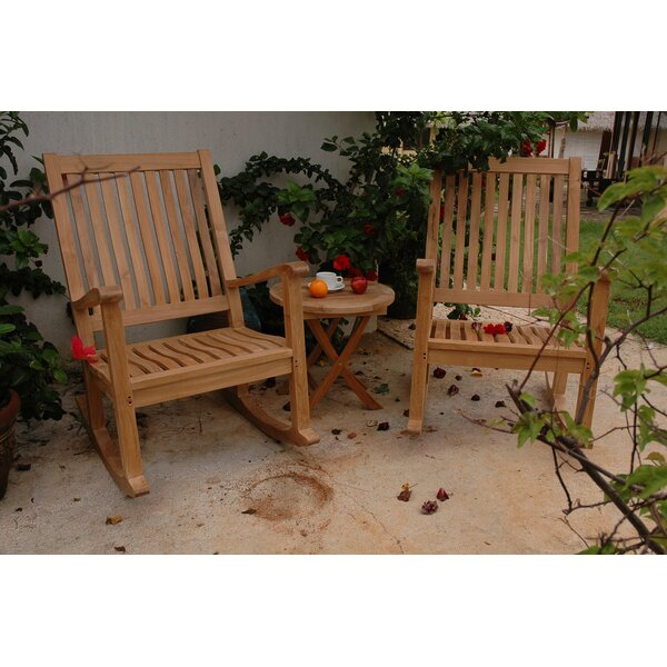 Farnam 3 Piece Teak 2 Person Seating Group by Rosecliff Heights