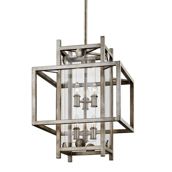 Pascal 6 - Light Lantern Square Chandelier by 17 Stories 17 Stories
