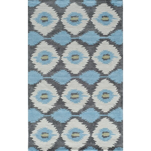 Hand-Tufted Blue/Gray Area Rug by The Conestoga Trading Co.