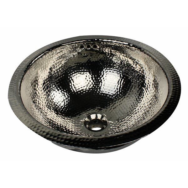 Brightwork Home Metal Circular Undermount Bathroom Sink with Overflow by Nantucket Sinks