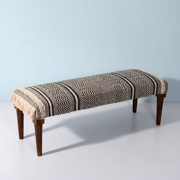 Thurmont Upholstered Bench by Bungalow Rose