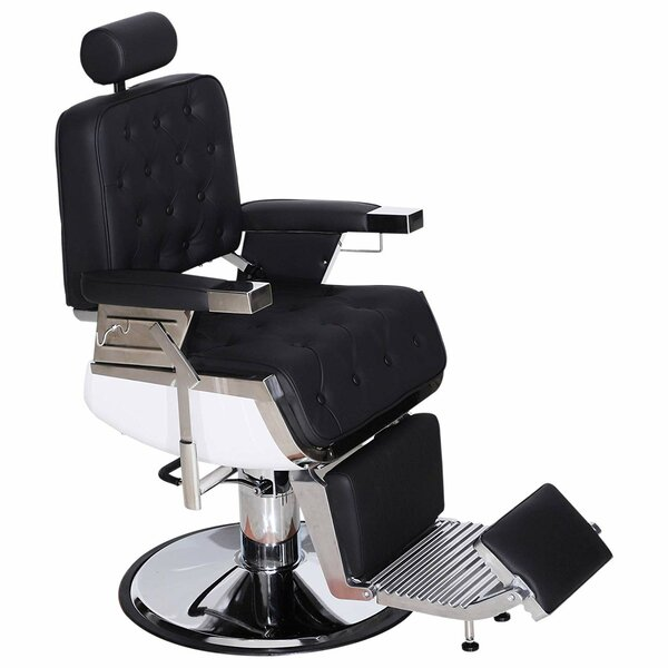 Vintage Barber Heavy Duty Metal Hydraulic Recline Spa 3825 Reclining Massage Chair By Symple Stuff
