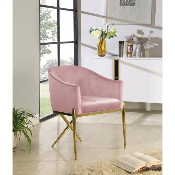 Cesar Velvet Upholstered Arm Chair By Everly Quinn
