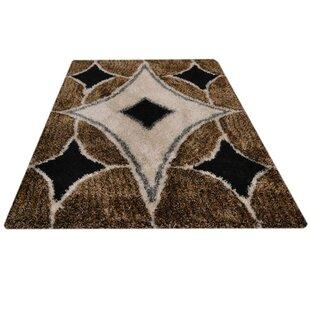 Buy luxury Eastford Shag Contemporary Hand-Tufted Black/Beige/Brown Area Rug ByIvy Bronx